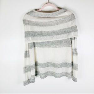 Free People Sweaters - Free People Lulu Rugby Stripe Sweater Ivory-Grey